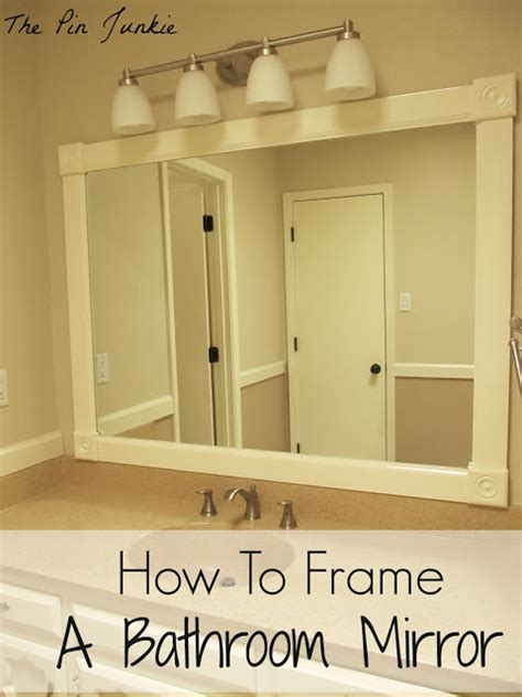 how to add a frame to a bathroom mirror how to frame a bathroom mirror