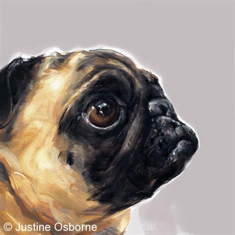 pug prints paintmydog modern contemporary portraits pet paintings and prints