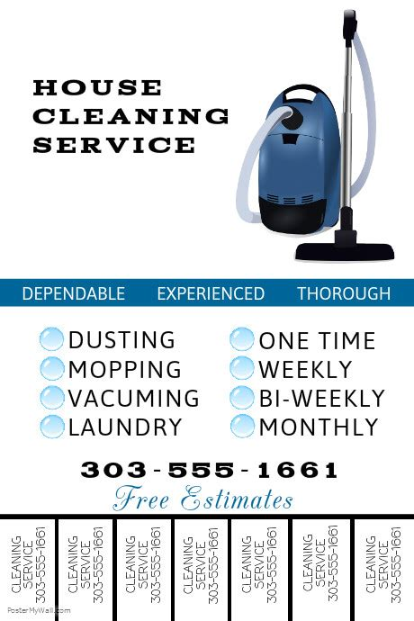 Cleaning Service Template Postermywall Cleaning Service Template Free