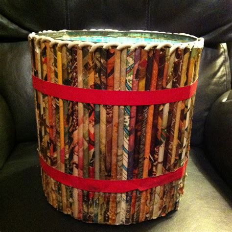 Waste Paper Craft - this is a vintage 1950 waste paper basket created from