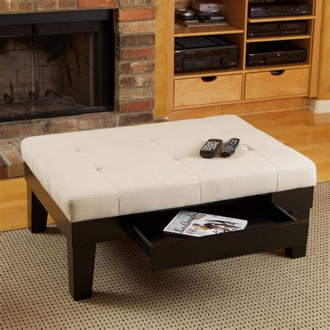tucson fabric storage ottoman coffee table modern