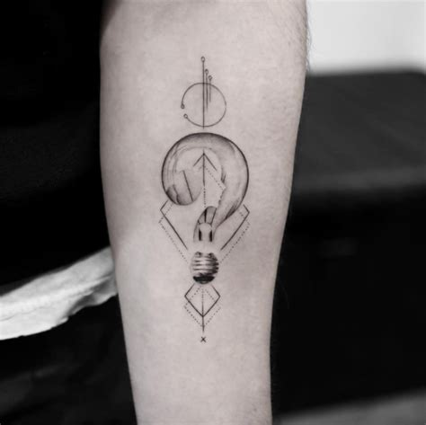 lightbulb tattoo 40 geometric designs for and tattooblend