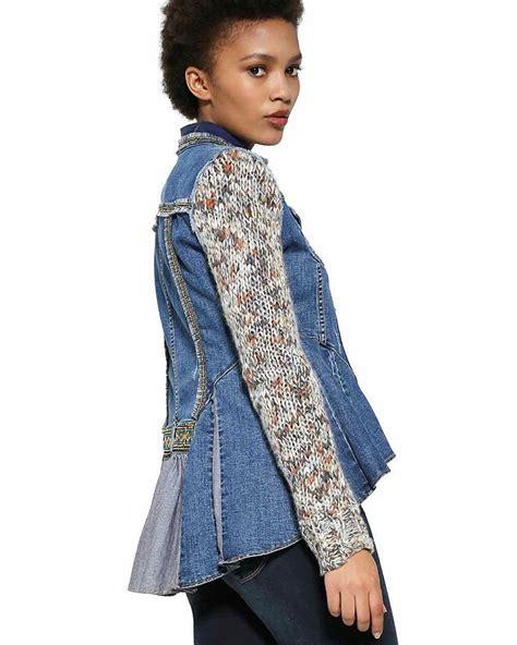 design jacket low desigual denim exotic ruffles jacket 17wwed22 canada us