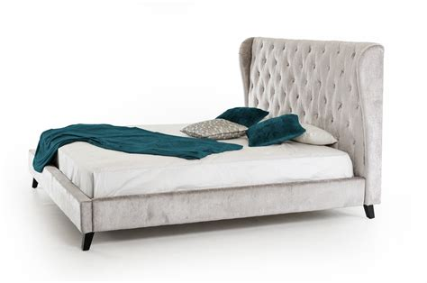 grey fabric bed modrest sheba light grey fabric bed