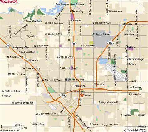 california map fresno fresno map my