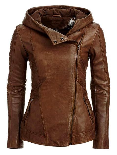 leather jackets gorgeous stylish hooded leather jacket fashion women