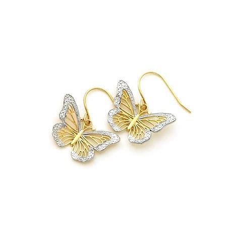 Earring Butterfly gold monarch butterfly earrings made in u s a