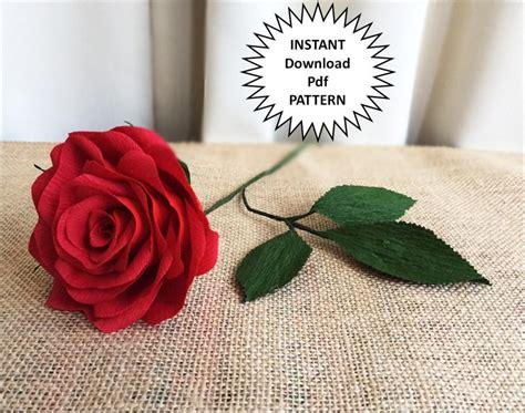 Paper Flower Making Tutorial Pdf   pdf pattern diy paper roses crepe paper roses paper