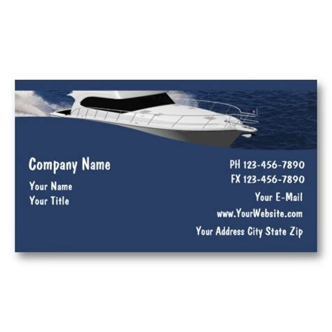 boat card template 17 best images about business card templates on