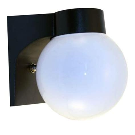 homeselects 7 in fluorescent outdoor acrylic globe metal