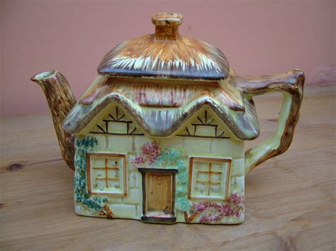 Pottery Cottage by Keele Pottery Quot Cottage Quot Large Teapot Vintage Tea