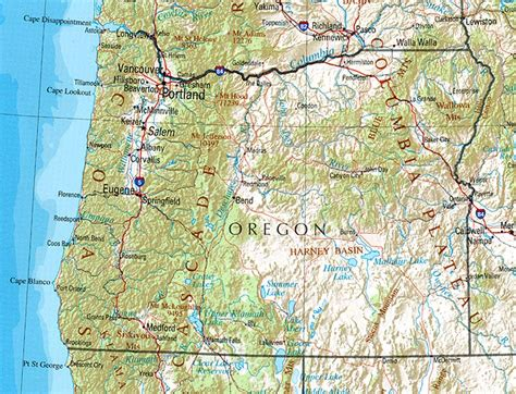 map of oregon cities oregon reference map