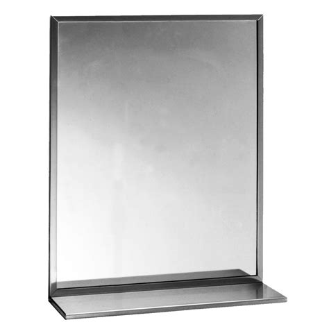 Bobrick Stainless Steel Shelf by Bobrick B1661830 B 165 Series Channel Frame Mirror With