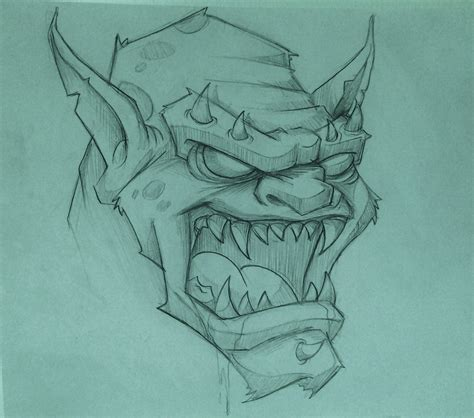 Drawing O F by Pencil Drawings Of Monsters Drawing Of Sketch