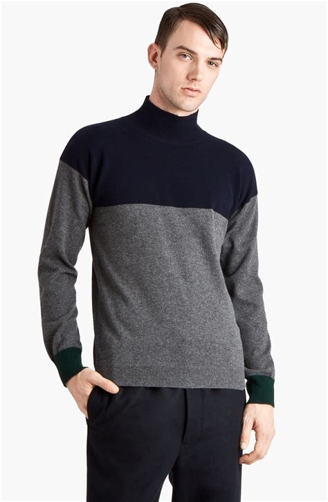 Sweater Rajut Pria Mock Turtleneck Green 1 turtleneck sweaters driverlayer search engine