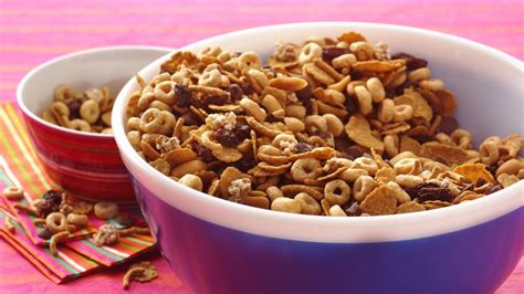 whole grains snacks whole grain snack mix recipe bettycrocker