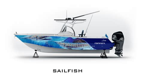 sailfish boat wraps jason mathias boat wraps fishwreck fishing apparel and