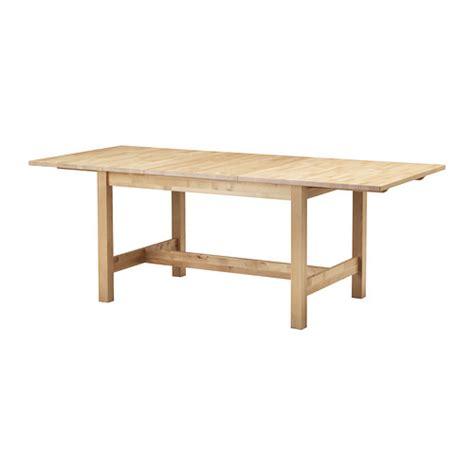 norden extendable table birch 155 210x90 cm ikea