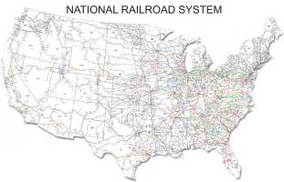 Railroad Map Of The United States by Map Map Of Every Passenger Railway In The United States