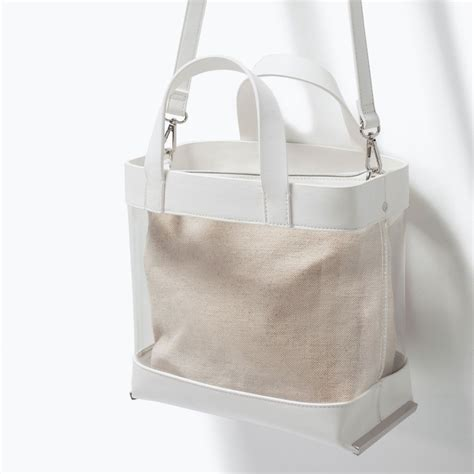 Zara Kabas Bag In Bag Ori sac cabas en vinyle zara pickture