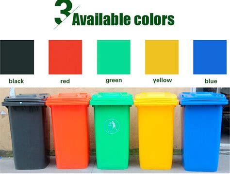 Dust Bin Green 120l Pedal Yellow Lid wheelie garbage can plastic 120litre yellow dustbin buy
