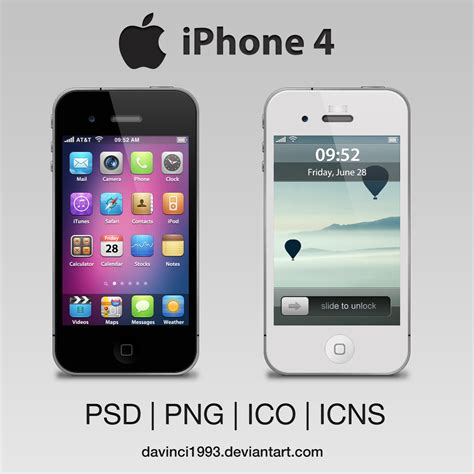 For Apple Iphone 4 apple iphone 4 psd png ico icns by davinci1993 on deviantart