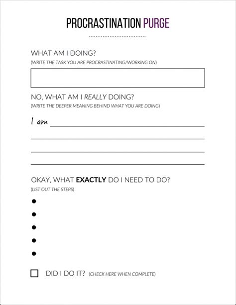 what i did at school today template how to beat procrastination and get back on track free