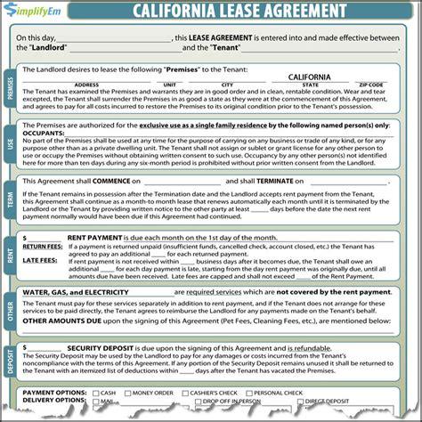 %name free online rental agreement   Free Printable Forms   RC123.com