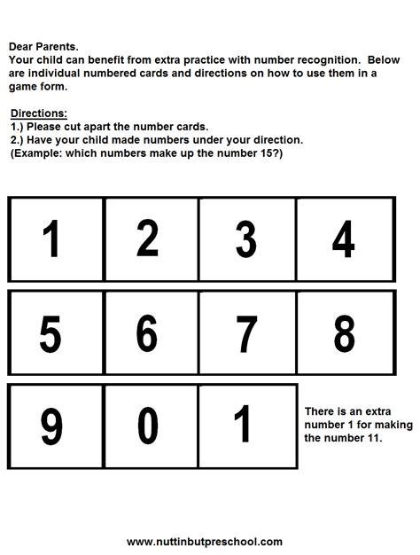 printable number games for preschool 187 number game nuttin but preschool