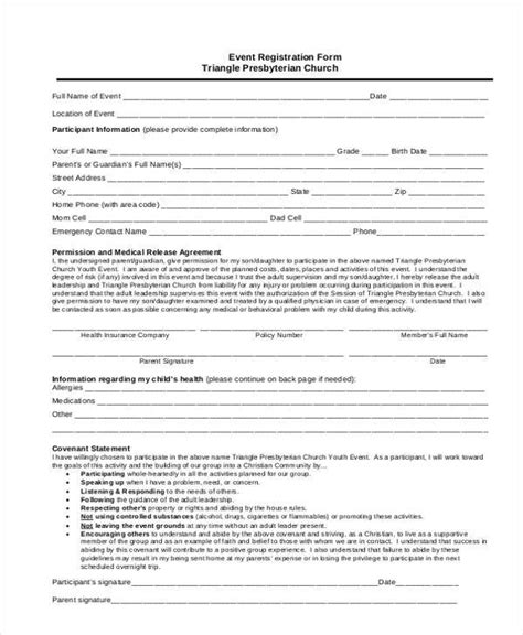 event registration form template registration form templates