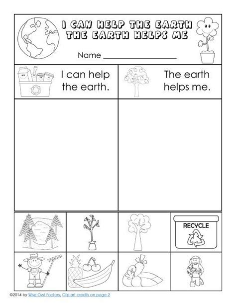 free earth day printable for k 1 earth day worksheets