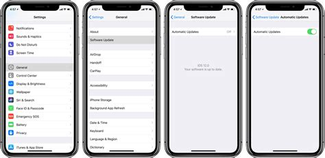 enable automatic updates  ios releases  iphone