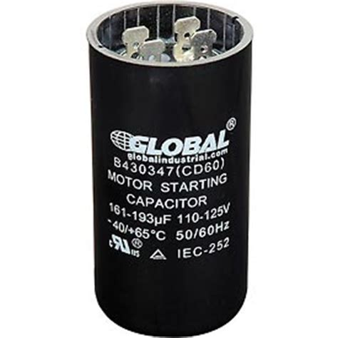 start capacitor calculator capacitors capacitors 110 125 volt start capacitor 161 193 mfd b430347