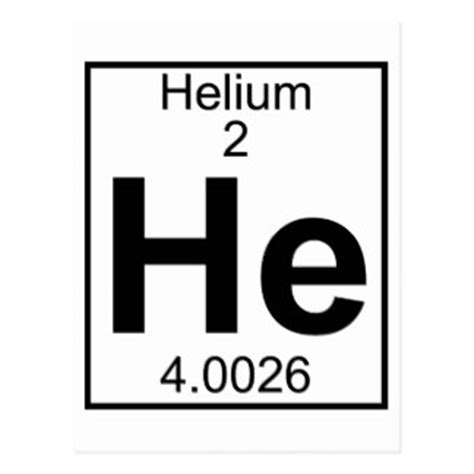 helium he element gifts on zazzle