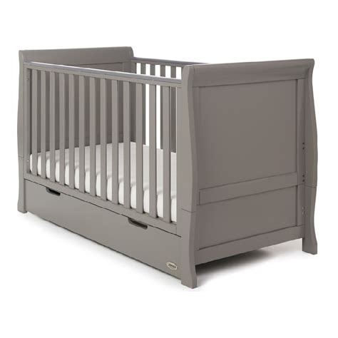 Sleigh Nursery Furniture Set Obaby Stamford Sleigh 3 Room Set Taupe Grey Nursery Furniture Ebay
