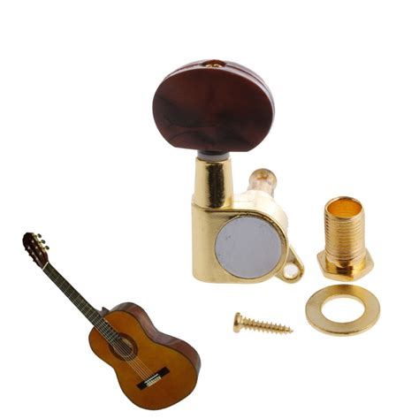 enclosed acoustic pearl knob guitar string tuning pegs