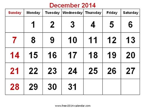december 2014 calendar template desenber calendar 2014 new calendar template site