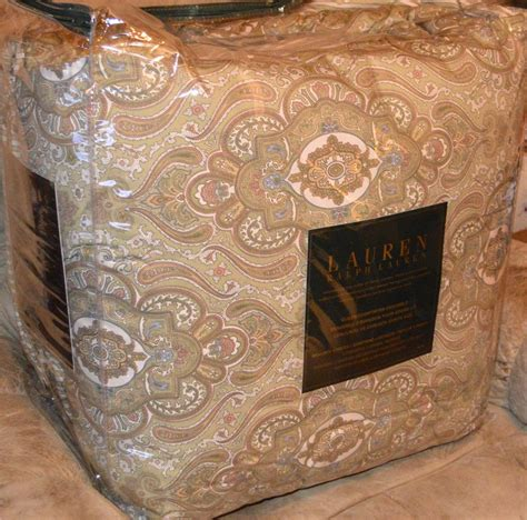 ralph lauren paisley comforter set ralph lauren colchester green paisley queen or king