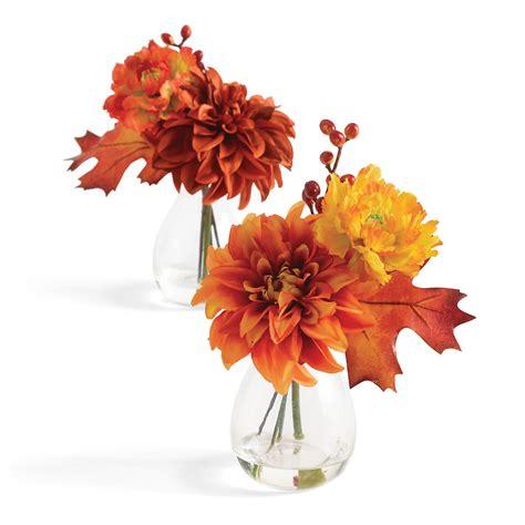 Set Dahlia sunset dahlia bouquets set of 2 gump s