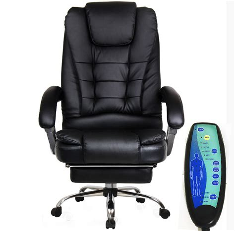 Reclining Office Chair With Leg Rest by Apex Deluxe Executive Reclining Office Computer Chair With Foot Rest Massager