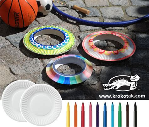 How To Make A Paper Frisbee - krokotak cool diy frisbee from paper plates