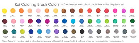 Koi Coloring Brush Pen 12 Color Set Colour Skin Tone xbr 12sa 12 koi assorted coloring