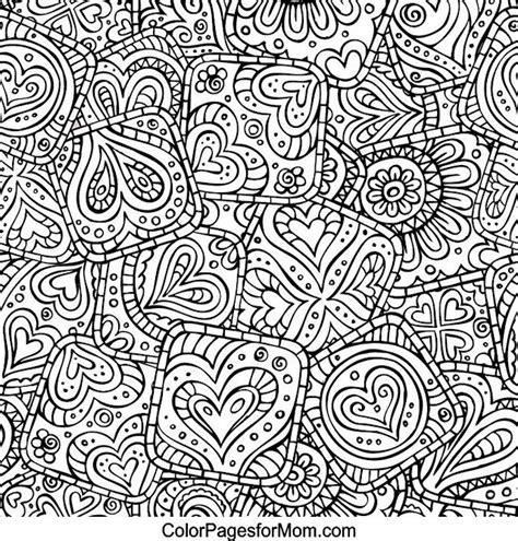 heart doodle coloring page hearts abstract doodle zentangle zendoodle paisley