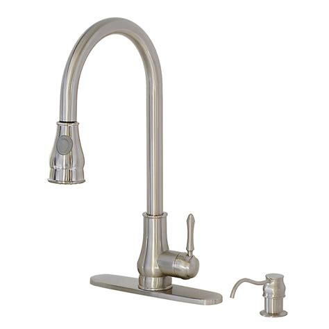 freuer brushed nickel kitchen sink faucet pullout