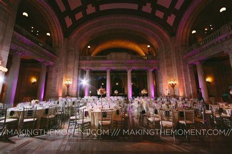 Cleveland Wedding uplighting, the old Cleveland courthouse