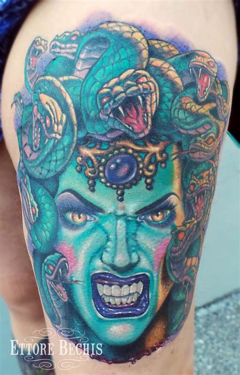 medusa tattoo by ettore bechis tattoonow