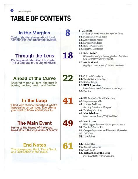 table of contents template word madinbelgrade