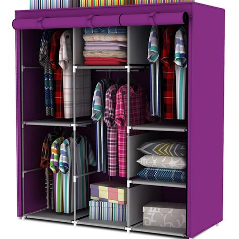 Clothing Wardrobe by Free Shipping Steel Pipe Wardrobe Simple Wardrobe Hanging Clothes Cabinet Non Woven Wardrobe