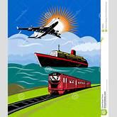 Plane Train Boat Ship Royalty Free Stock Image - Image: 7050366