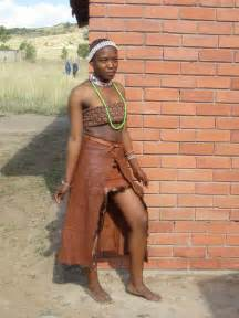 Was told the students wear the very traditional basotho dress